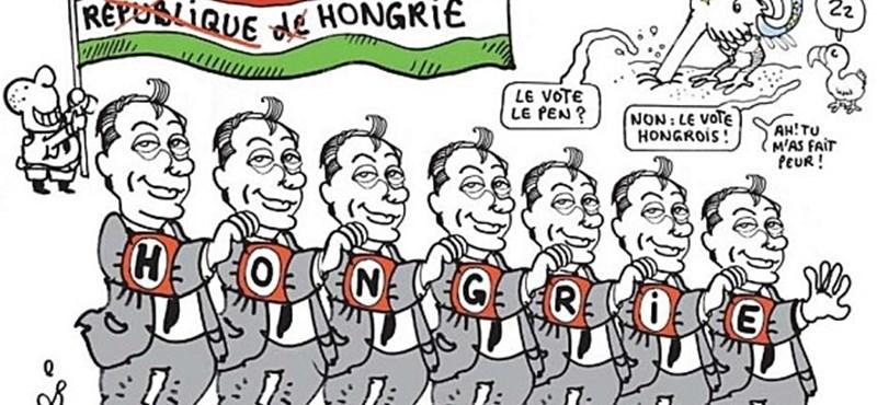 Náci-Orbán a Le Monde karikatúráján