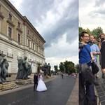 Videó: így reagált a pár, amelynek az esküvőjébe belegyalogolt a szombati tanártüntetés