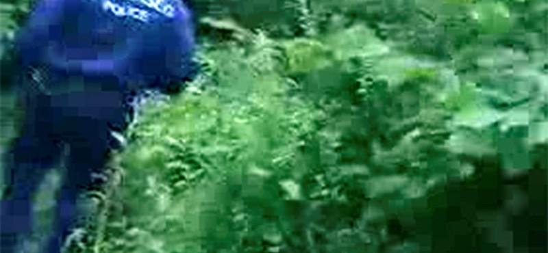 Egy roma férfi hátán kelt át a vízen egy egri rendőr – videóval