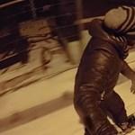 Videó: A rózsadombi snowboardosnál már nem lehet többet kihozni a télből