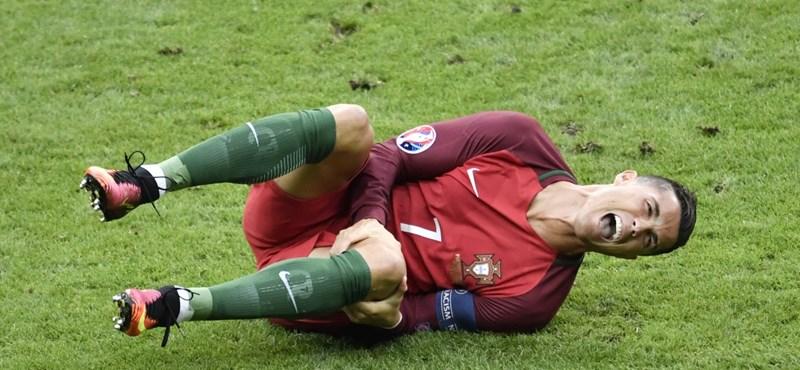 Dráma a döntőn: Ronaldót sérülés miatt le kellett cserélni