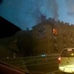 Durván lángolt egy lakás a Váci úton – fotók