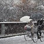 Elesett a hóviharban Japán középső része