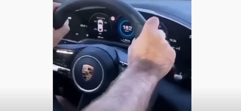 180 km/h-ról későn fékezve a Porsche Taycan sem fogja bevenni a körforgalmat – videó
