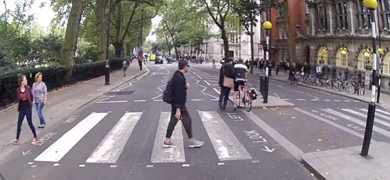 Ilyen birodalmi öntudattal csak egy brit fegyelmez meg egy bringást - videó