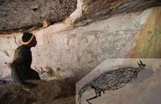 Darázsfészkek alapján jöttek rá, hogy ez a sziklrarajz több mint 17 ezer évvel ezelőtt készült
