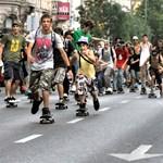 Gördeszkások lepik el Budapestet