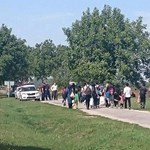 Horvátország felől jönnek a menekültek Illocskánál