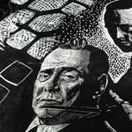 Botrányt okozott a biennálén kiállított politikus-padlómozaik