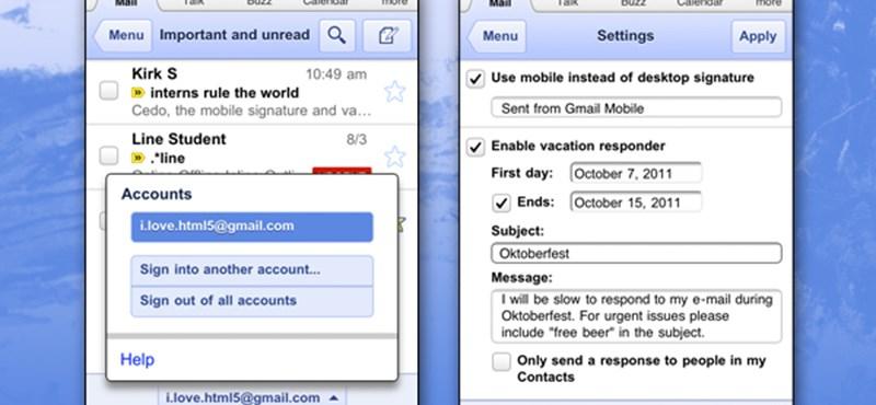Megújult a Gmail mobilra optimalizált webes felülete