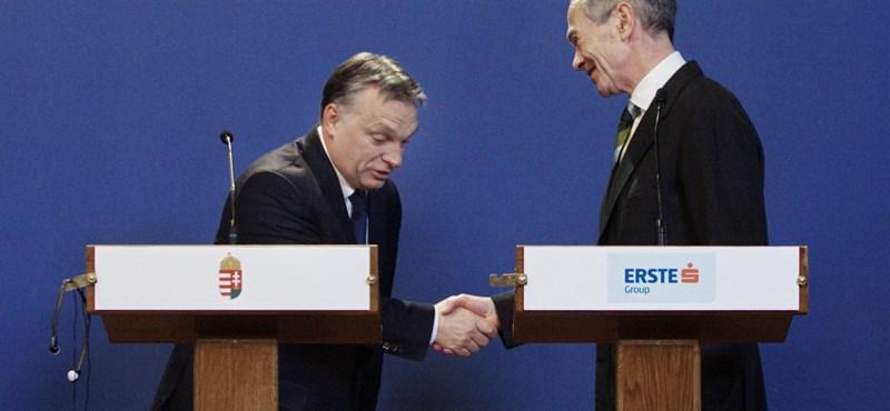 Hadüzenetet küldött Orbánnak az Erste-vezér