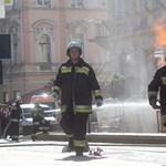 Lángokban áll Miskolc belvárosa - képekkel