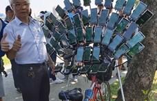 Szintet lépett a tajvani nagypapa, már 64 telefonnal keresi a pokémonokat