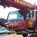 Egy 48 tonnás autódarut is simán el lehet lopni, Stuttgartban megtették