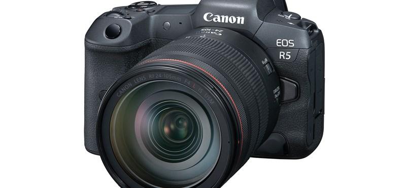 8K-s videófelvétel, szélsebes képrögzítés: megjött a Canon új csúcsgépe, az EOS R5