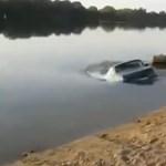 Folyó mélyéről került elő egy Lada Niva – videó
