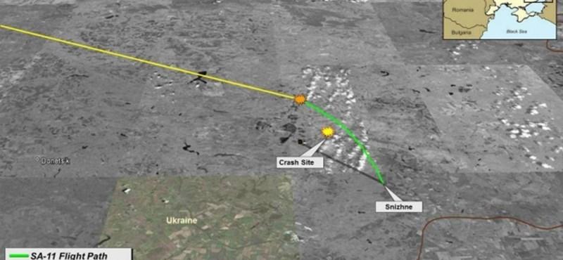 Lelőtt gép: térképpel mutatják a rakéta röppályáját