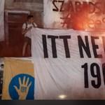 Szélsőjobboldali aktivisták akcióztak a Színművészetinél