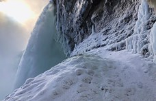 Öt év után ismét befagyott a Niagara-vízesés nagy része