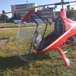 Visszazuhant a földre egy helikopter Budaörsön