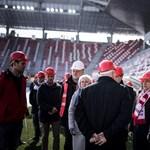 Orbán érzi a hangulatot: stadionépítést tekintett meg Miskolcon