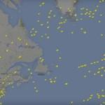 Videó: így repül több mint 2000 repülőgép az Atlanti-óceán felett