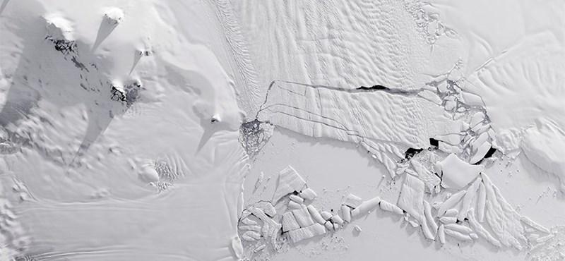 Akkora jéghegy szakadt le az Antarktiszról, mint fél Budapest – fotók, videó