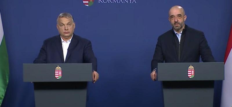 Orbán: Nehéz időszak előtt állunk, de talpra fogunk állni
