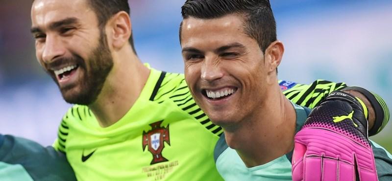 Ronaldo vetett véget a walesi álomnak - Portugália az Eb-döntős