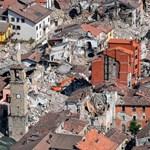 Fotókon a földrengésben szinte teljes egészében elpusztult Amatrice