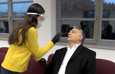 Orbán beállt sofőrködni a tesztelő medikusokhoz