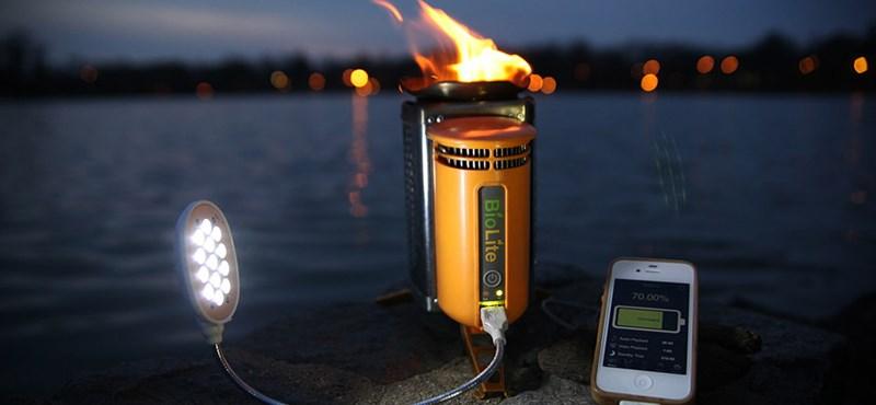 Hordozható bio-tűzhely, mellyel az okostelefonodat is feltöltheted