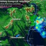 Súlyos viharfelhők rohanták le Budapestet - térkép