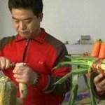 Zöldségekkel zenél a pekingi testvérpár (videó)