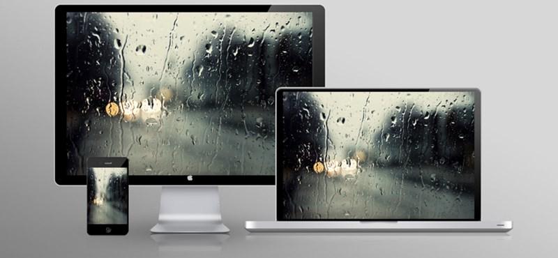 A hét háttérképei: esős nap a monitoron