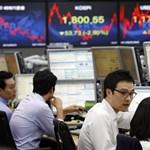 Az európai válság miatt csökkentek az ázsiai tőzsdemutatók